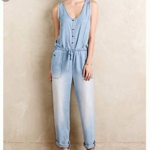 Anthropologie Hei Hei Chambray Jumpsuit Size Large